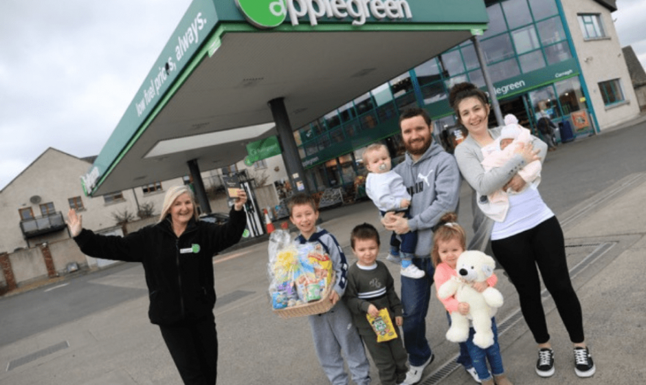 Applegreen welcomes baby Ellie with years' worth of free fuel for parents!