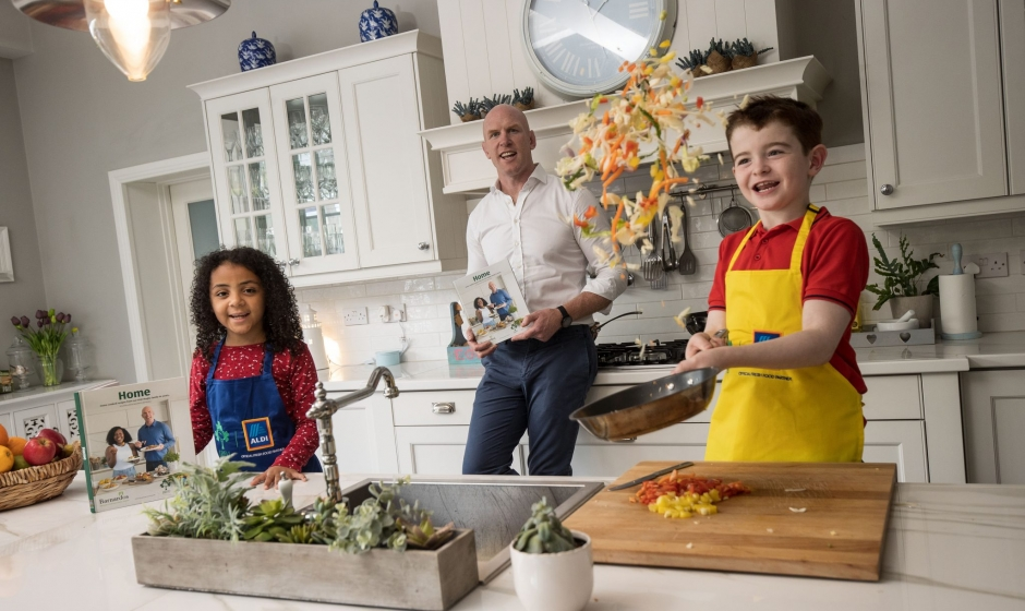 Aldi And The IRFU Launch Cookbook In Support Of Barnardos