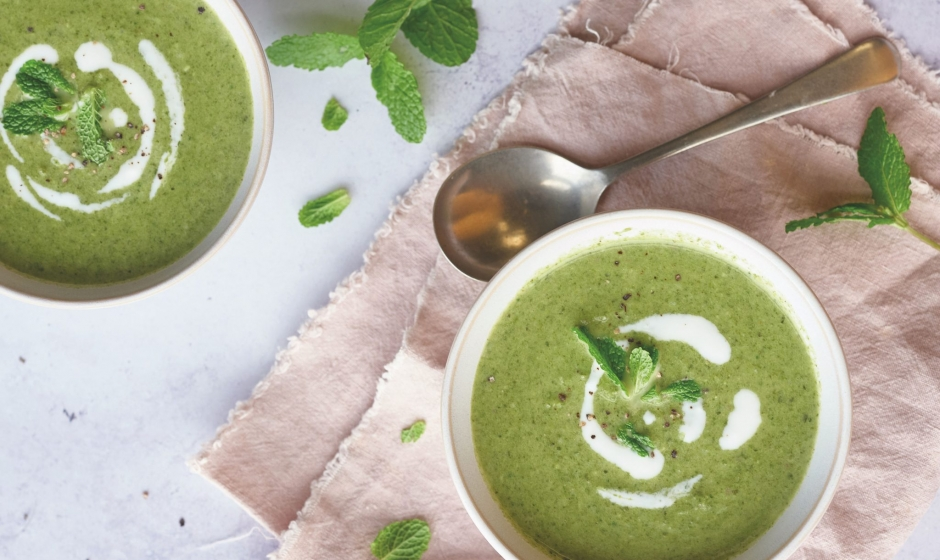 PEA, BACON AND MINT SOUP